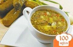 Фото рецепта: «Суп c солеными огурцами»