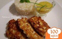 Фото рецепта: «Куриные рубленные котлетки с персиковым соусом»
