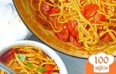 Фото рецепта: «Спагетти с помидорами»