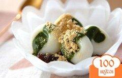 Фото рецепта: «Рисовые клецки с соусом из зеленого чая»