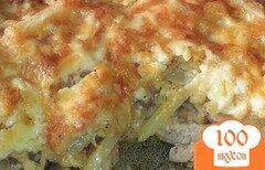 Фото рецепта: «Куриное филе с картофелем под сырной корочкой»