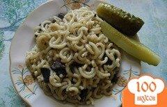 Фото рецепта: «Белые грибы со сметаной и макаронами»