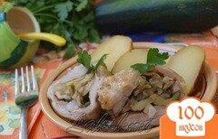 Фото рецепта: «Рулет из сала с овощами»