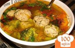 Фото рецепта: «Суп с фрикадельками и брокколи»
