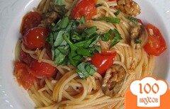 Фото рецепта: «Спагетти с томатами и оливками»