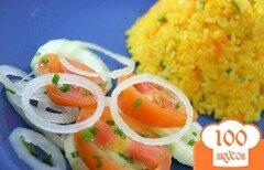 Фото рецепта: «Салат из огурцов и лука»