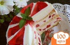 Фото рецепта: «Торт «Красное и белое»»