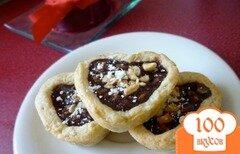 Фото рецепта: «Тарталетки с шоколадом и орехами»