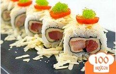 Фото рецепта: «Ролл с семгой и креветками»