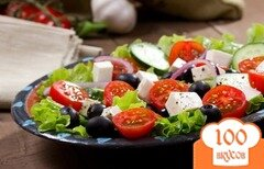 Фото рецепта: «Греческий салат с моцареллой»