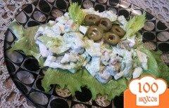 Фото рецепта: «Салат с курицей и оливками»