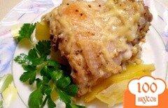 Фото рецепта: «Куриные спинки с картофелем»