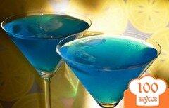 "Фото рецепта: «Коктейль ""Голубая лагуна""»"