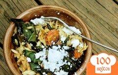 Фото рецепта: «Осенний салат с пастой орзо»