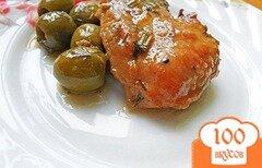 Фото рецепта: «Куриная грудка с оливками»
