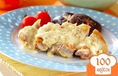 Фото рецепта: «Куриное филе под сливочным соусом»