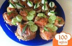 Фото рецепта: «Бутерброды с лососем»