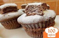 Фото рецепта: «Шоколадные пирожные с кремом»