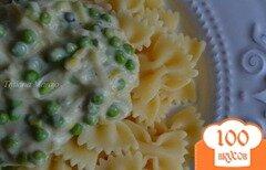 Фото рецепта: «Соус из порея с зеленым горошком»