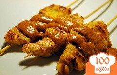 Фото рецепта: «Шашлык из курицы на шпажках»