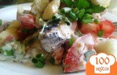 Фото рецепта: «Салат из шпрот с овощами»