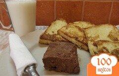 Фото рецепта: «Молочные гренки с домашним шоколадным мааслом»