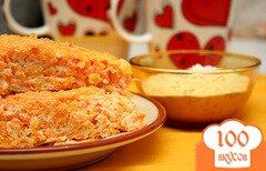Фото рецепта: «Морковно-творожная запеканка»