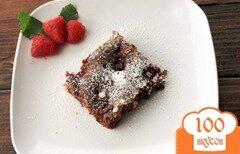 Фото рецепта: «Брауни с малиной и белым шоколадом»