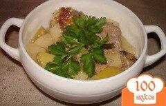 Фото рецепта: «Картофель с фрикадельками»