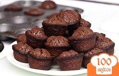 Фото рецепта: «Шоколадные кексы-суфле»