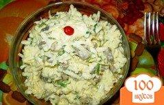 Фото рецепта: «Салат из желудков с черной редькой»