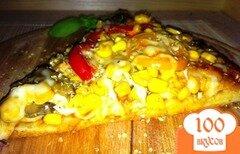 Фото рецепта: «Пицца с кукурузой»