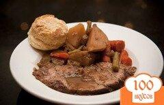 Фото рецепта: «Говядина с овощами и картофелем»