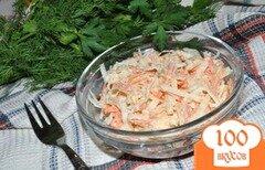 Фото рецепта: «Салат из черной редьки с морковью и сельдереем»