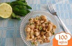 Фото рецепта: «Салат с макаронами и креветками»