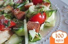 Фото рецепта: «Салат из цукини с крутонами»