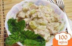 Фото рецепта: «Кабачок с грибами в сметане»