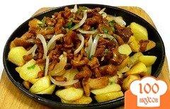 Фото рецепта: «Картофель с грибами на сковороде»