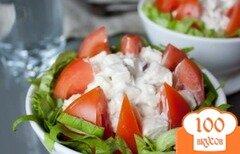 Фото рецепта: «Салат из курицы и помидоров»