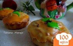 Фото рецепта: «Яблочно-марципановые кексики»