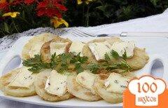 Фото рецепта: «Жареная кольраби с сыром Дорблю»