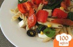 Фото рецепта: «Итальянская паста с жареными овощами и бальзамическим соусом»