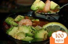 Фото рецепта: «Мексиканский коктейль из креветок»