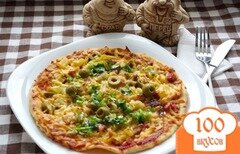 Фото рецепта: «Тропическая пицца с соусом»