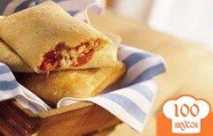 Фото рецепта: «Закрытая мини-пицца с морковью»