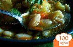 Фото рецепта: «Суп из савойской капусты с белой фасолью»