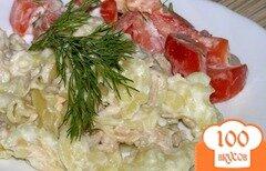 Фото рецепта: «Паста с мясом в соусе бешамель»