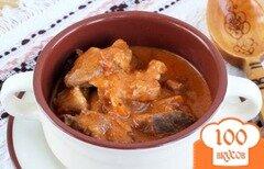 Фото рецепта: «Мясо с подливкой в мультиварке»