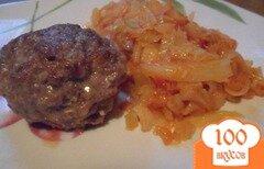 Фото рецепта: «Капуста, тушёная по-советски с котлетами»