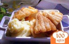 Фото рецепта: «Треска, жаренная в кукурузной муке с картофельным пюре.»